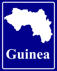 silhouette map of Guinea
