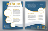 Brochure design a4 vector template
