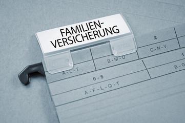 Ordner mit Familienversicherung