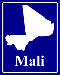 silhouette map of Mali