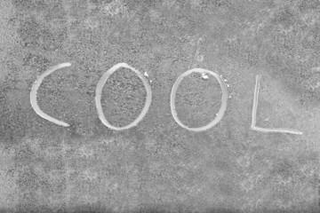 Cool Wort auf Eis