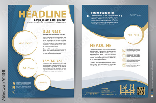 Brochure design a4 vector template - 76441548
