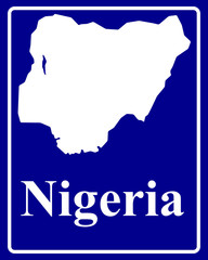 silhouette map of Nigeria