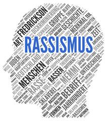 RASSISMUS | Konzept Word Tag Cloud