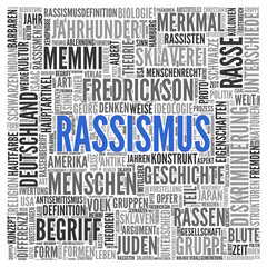 RASSISMUS | Konzept Word Tag Cloud