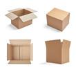 Leinwanddruck Bild - box package delivery cardboard carton