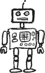 cartoon retro robot