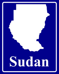 silhouette map of Sudan