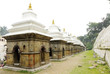 Votive temples and shrines in a row