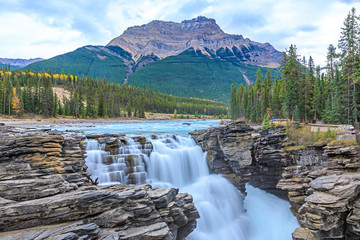 Athabasca River waterfalls