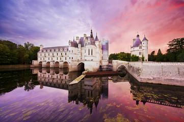 mystic sunset at Chenonceaux castle, France
