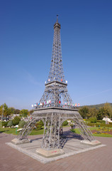 Eiffel Tower in miniature, a replica from Minimundus, Klagenfurt