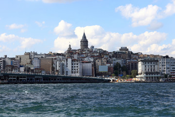 View of Galata Tower district