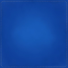Blue textile background with seams