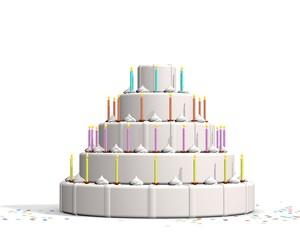 Basis cake viering van een gebeurtenis