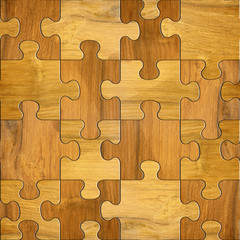 wooden puzzles - seamless background - decorative pattern