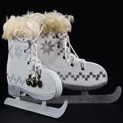 white ice skate Christmas Decoration