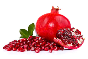 Pomegranate with seeds