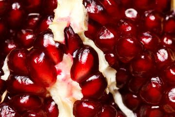 Macro shot of grenadine seeds