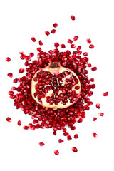 Half of a pomegranate