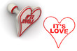 canvas print picture - Это любовь (It's love). Печать и оттиск