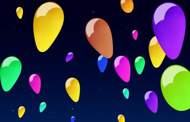balls in the night sky