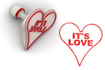 Это любовь (It's love). Печать и оттиск