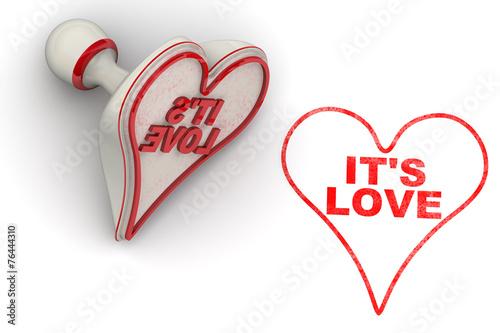 canvas print picture Это любовь (It's love). Печать и оттиск