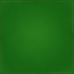 Green textile background with seams