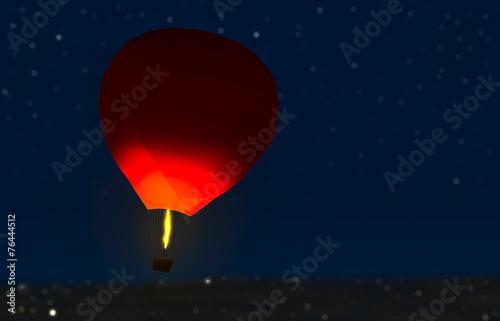 Papiers peints Aerien balloon in the starry night
