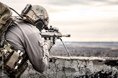 canvas print picture U.S. Army sniper