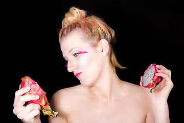 Models meets dragon fruit