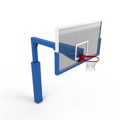 Basketball backboard close-up
