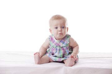 Little cute baby-girl in dress,