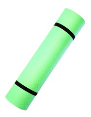 Lightweight foam Yoga Mat roll isolated on white