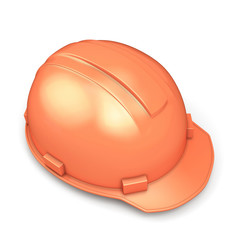 Construction helmet close-up