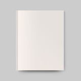 Blank magazine cover. Isolated object for design and branding