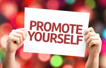 Promote Yourself card with colorful background