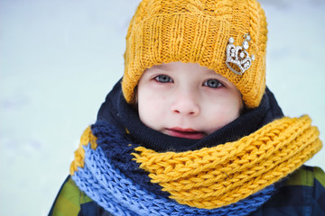 boy in winter