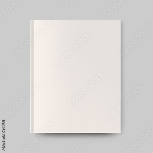 Blank magazine cover. Isolated object for design and branding - 76445758