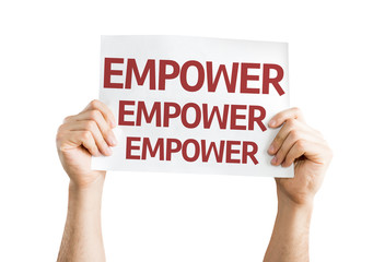 Empower card isolated on white background