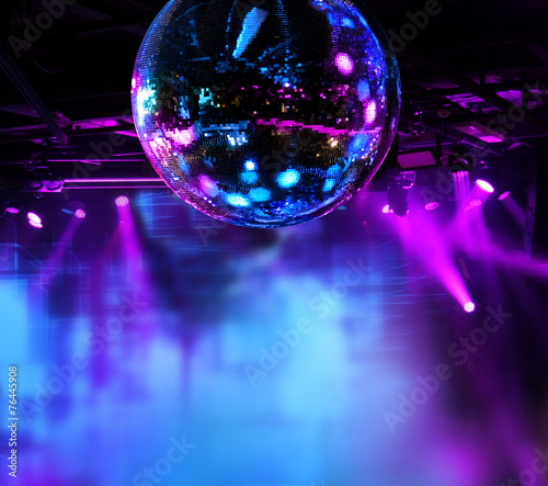 Colorful disco mirror ball lights
