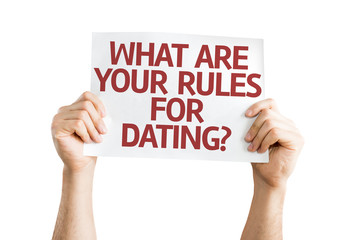 What are your Rules for Dating? card isolated on white