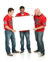Fans: Men Holding Blank Sign
