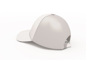 White baseball cap template back side