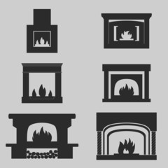 Fireplaces Icons