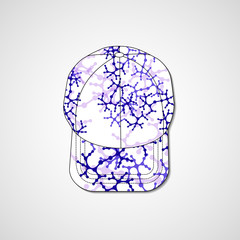 Abstract illustration on peaked cap