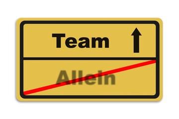Team - Allein