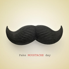 fake moustache day