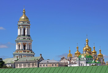 View of Kiev Pechersk Lavra Orthodox Monastery in Kyiv, Ukraine